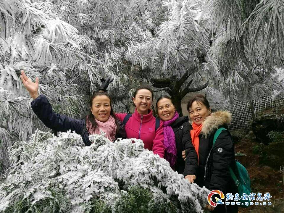 """凯里:今年冬天初雪 小高山都""""妆""""上了 美图""""冻""""坏朋友圈"""