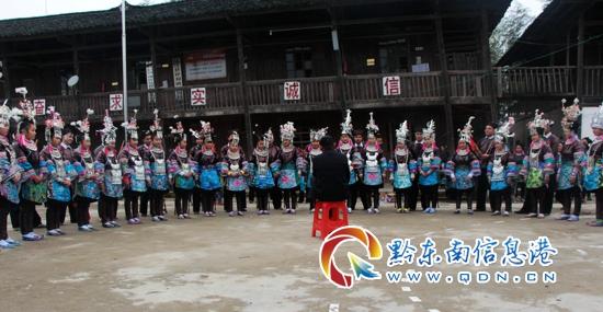 从江县加勉乡真由村特殊首映式(图)