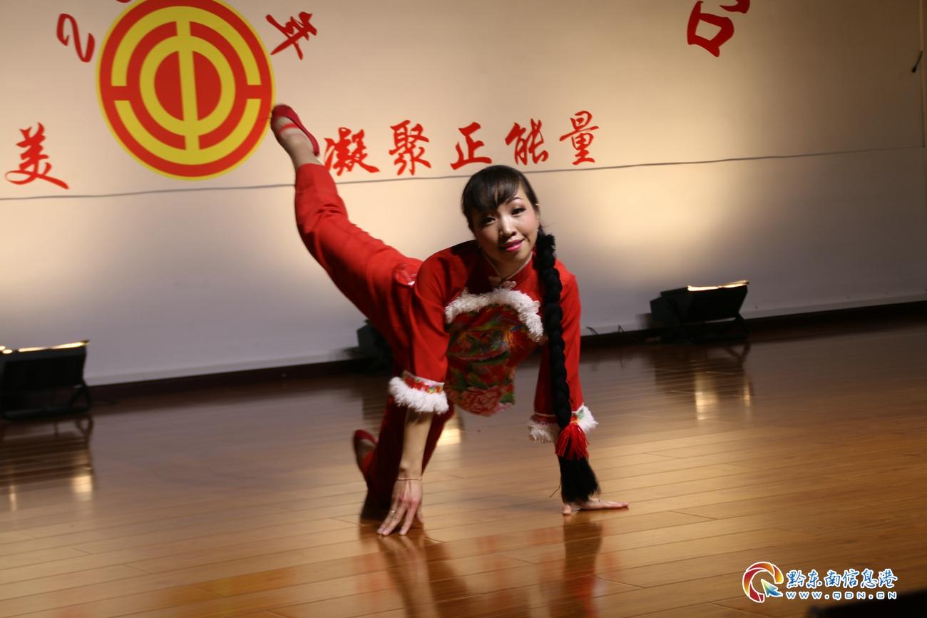 黄平县幼儿园姚茂娜的独舞《红高粱》表演